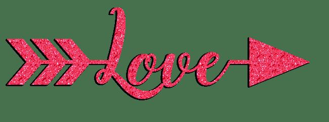 love arrow glitter clipart