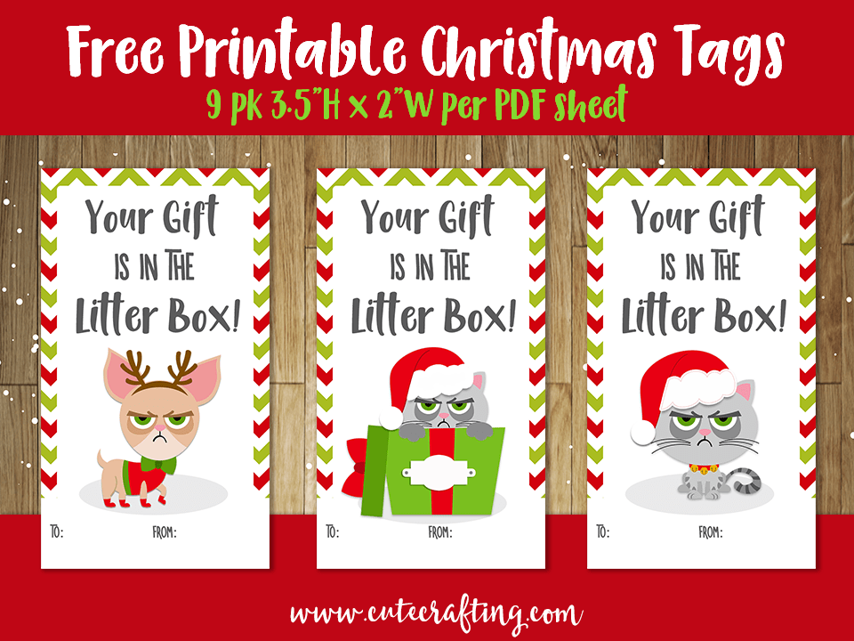 grumpy cat christmas tags