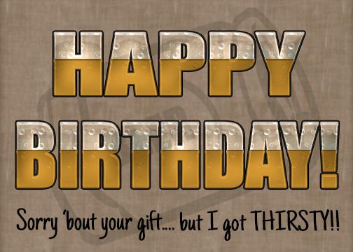free birthday beer