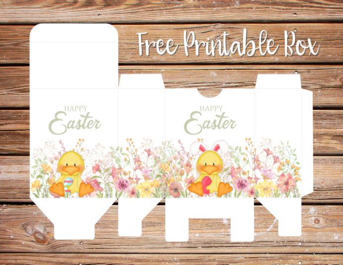 Happy Easter Printable Gift Box
