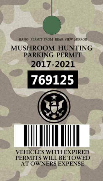 mushroom hunting parking permit joke