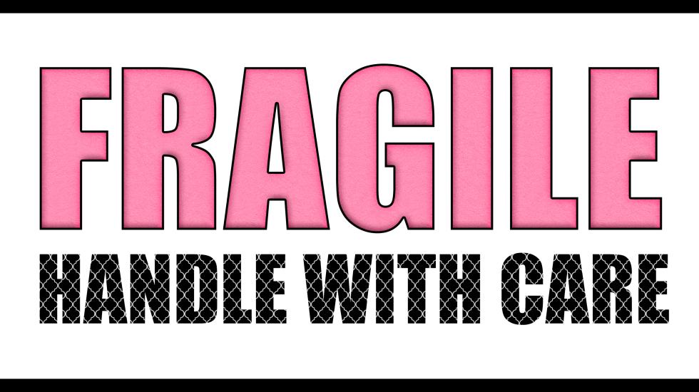 fragile handle with care printable labels