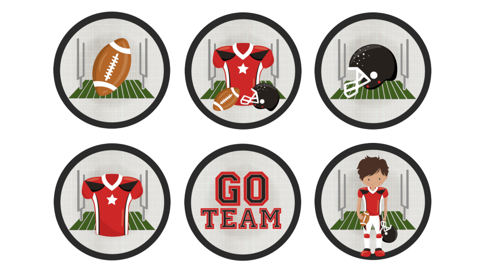 football party cupcake toppers free printable