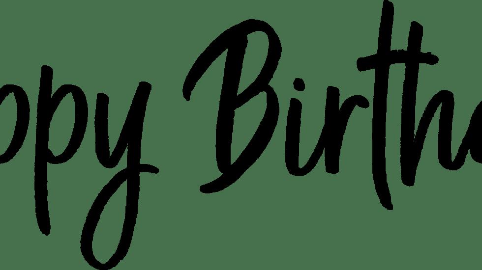 Happy Birthday Transparent PNG Photo Overlays
