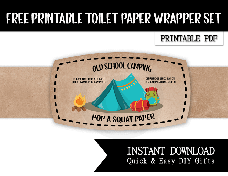 funny camping toilet paper wrapper