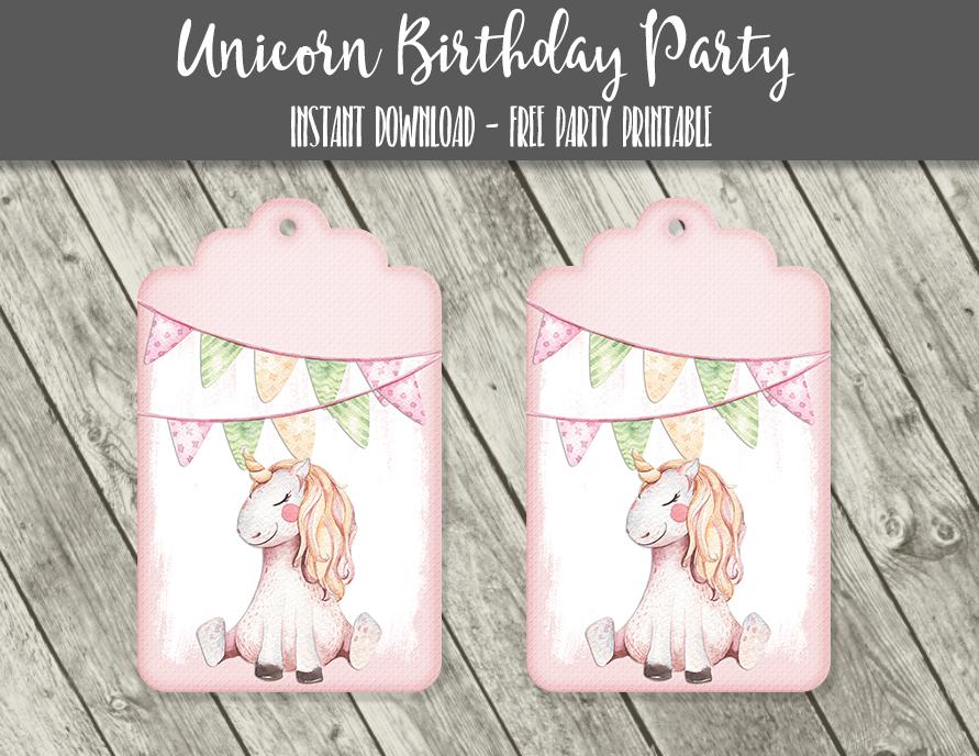 e7ca3cbf3 Free Unicorn Pastel Watercolor Cupcake Toppers   Tags