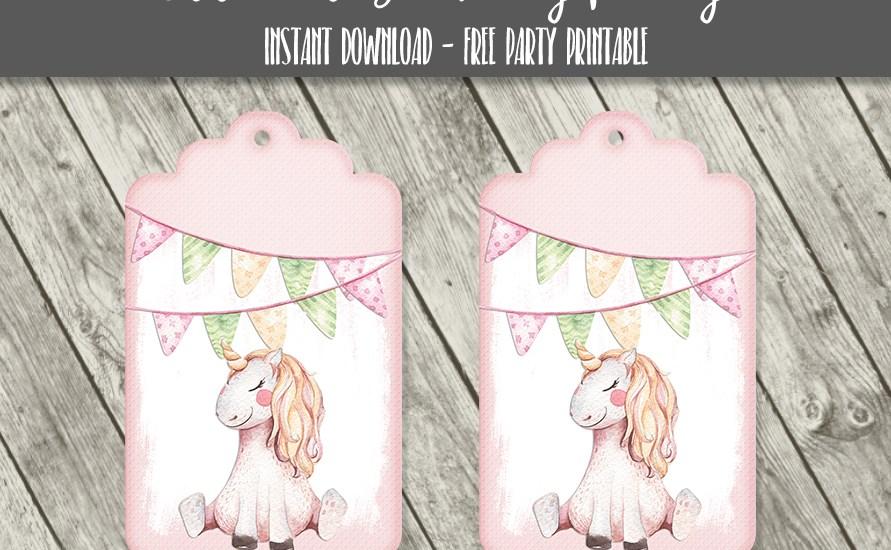 Unicorn Birthday Party Tags