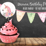 Unicorn Birthday Party Free Printables