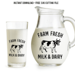 farm fresh milk svg