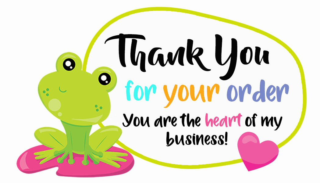 Thank You For Your Order Frog