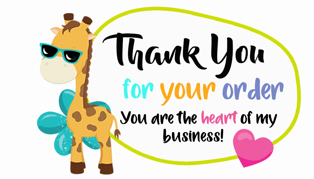 Thank You For Your Order Package Inserts For Small Business  CuteCrafting