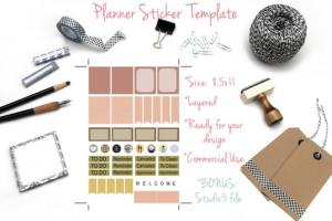 Planner Sticker Template
