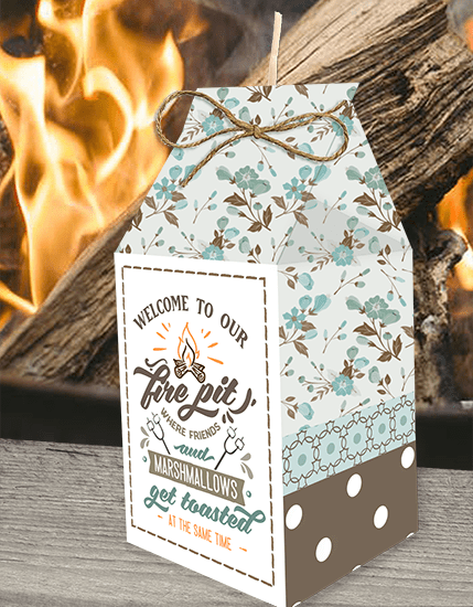 welcome to the fire pit fire starter printabable party favor