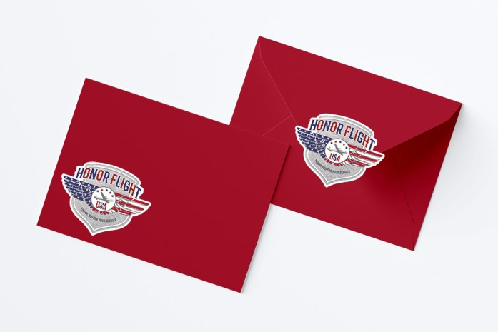 Red White Blue Free Honor Flight Stickers