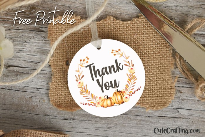 free pumpkin thank you tags