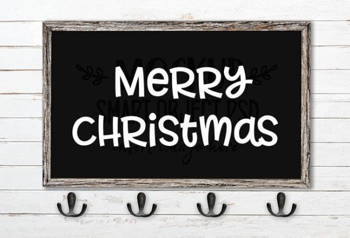 merry christmas svg word art allspice