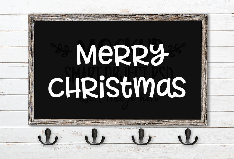 merry christmas svg word art allspice