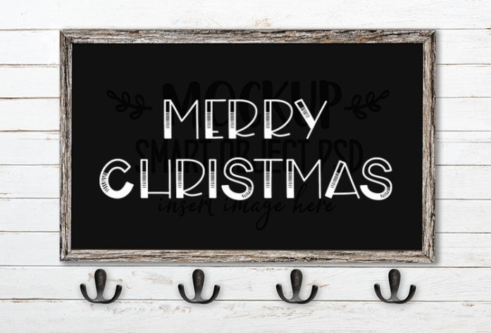 Merry Christmas SVG Word Art Boardwalk
