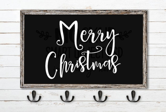 merry christmas svg word art delaney font duo