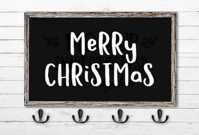 merry christmas svg word art hola bisou fun font