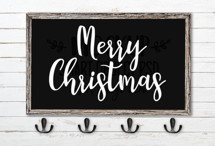 merry christmas svg word art manda