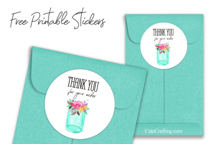 thank you for your order stickers