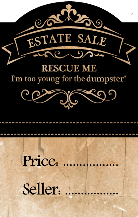 estate sale price tags
