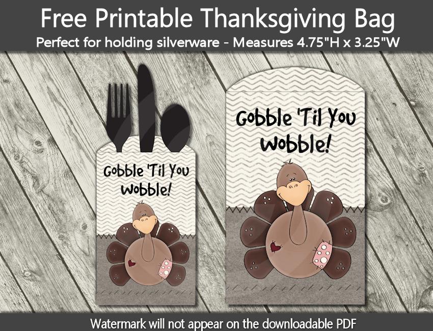 gobble til you wobble printable thanksgiving