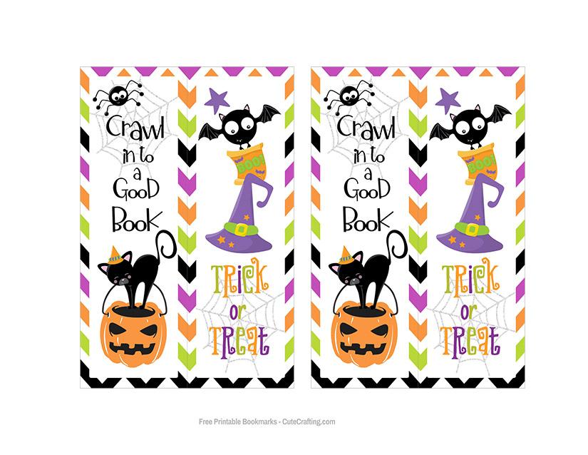 Kids Halloween Bookmarks