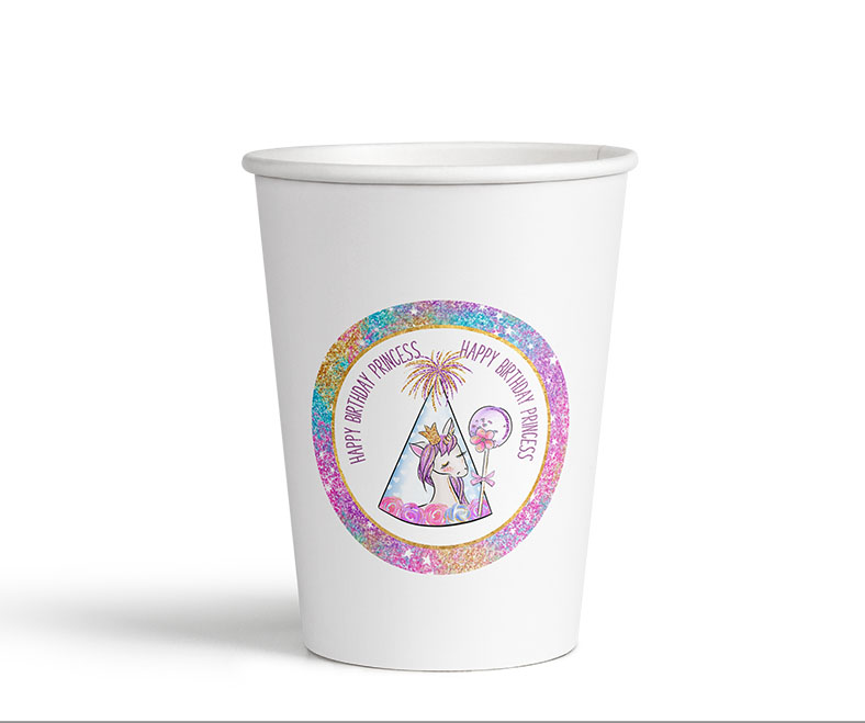 rainbow glitter unicorn party printable