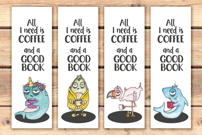 I need coffee funny printable bookmarks
