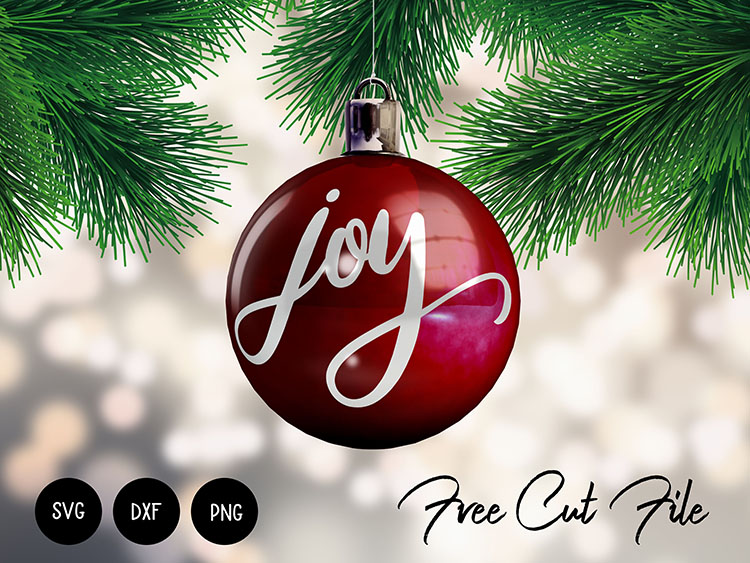 Download Joy Christmas Ornament SVG DXF PNG Commercial Use Free ...