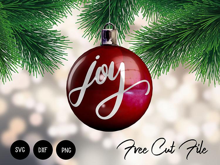 Joy Christmas SVG for Ornaments