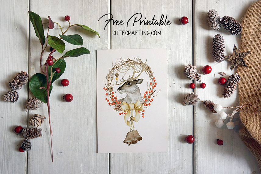 deer hunter big buck printable card