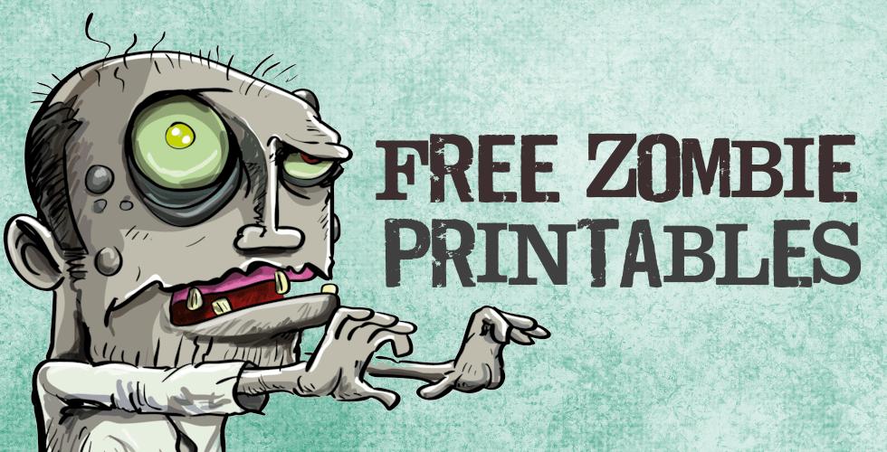 free zombie printables