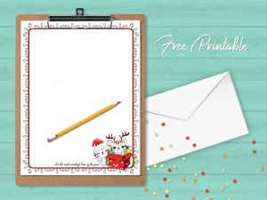 printable stationery christmas cats newsletter