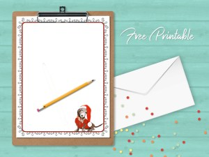 Printable Stationery Dachshund Christmas Paper