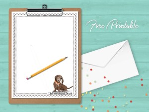 Printable Stationery Paper Dachshund