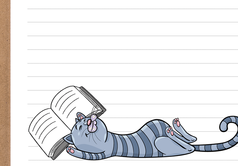 Cat Napping Printable Stationery