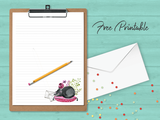 Cat Nap PenPal Stationery Free Download