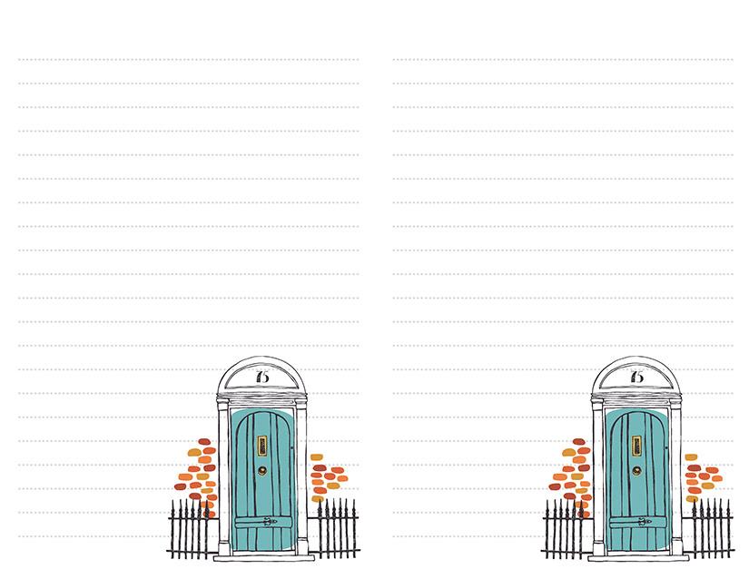 Blue Front Door Stationery