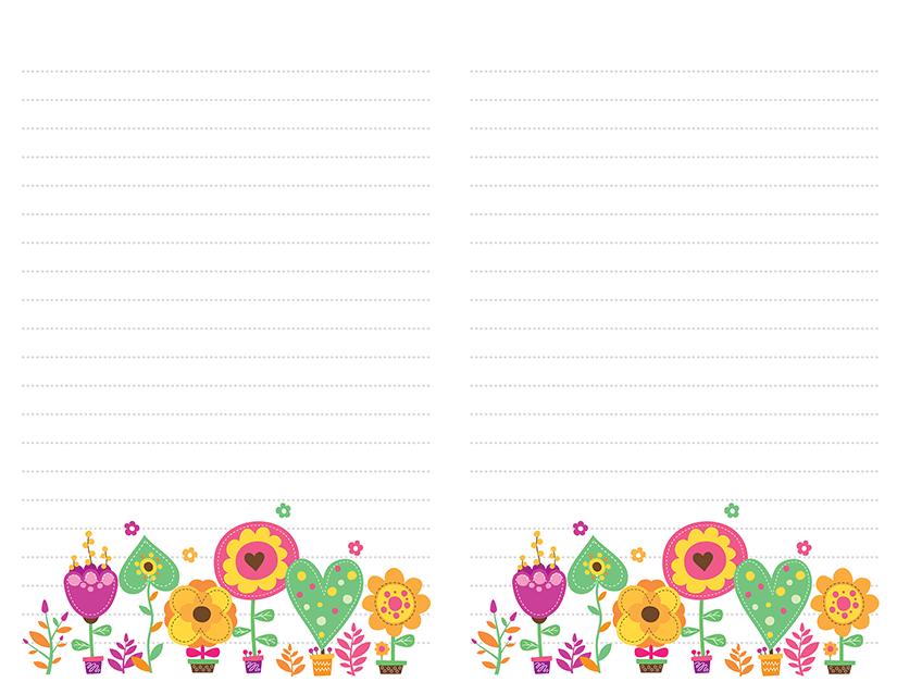 Flower Pots Pastels Stationery