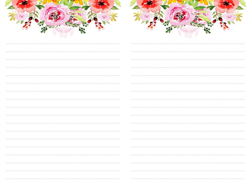 Peony Flowers Stationery