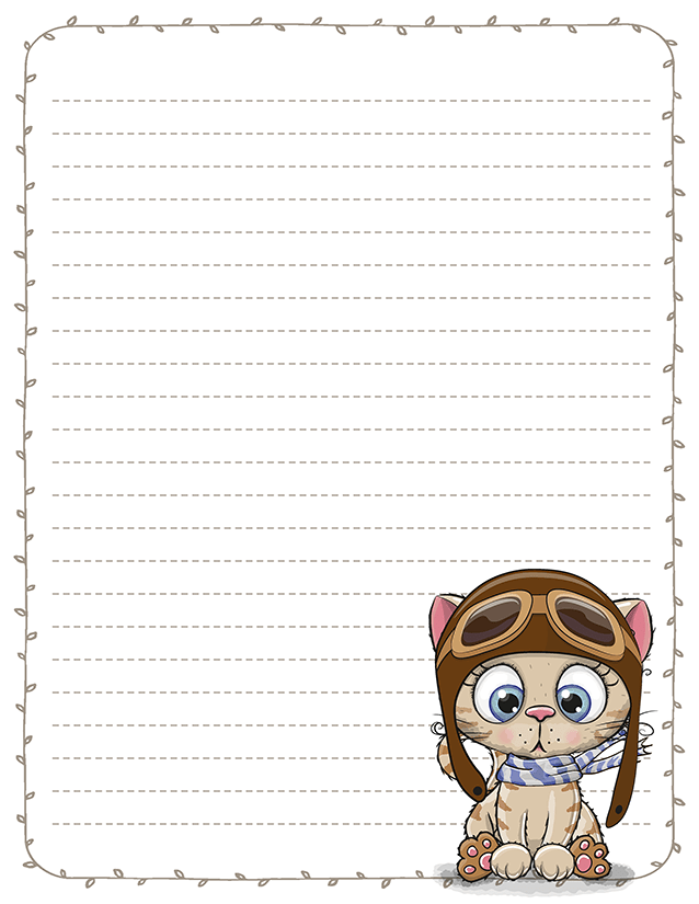 Aviator Kitten Pen Pal Stationery