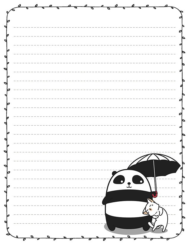 Fat kawaii panda stationery
