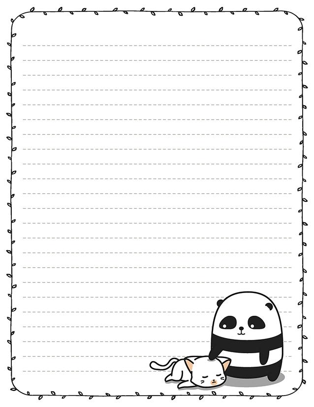 Cartoon Panda Stationery