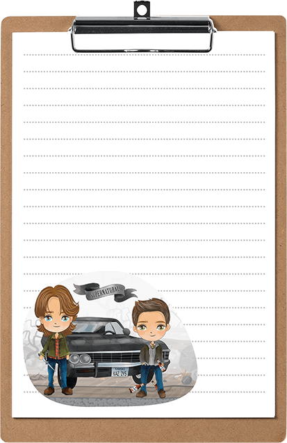 Supernatural Inspired Kawaii Stationery