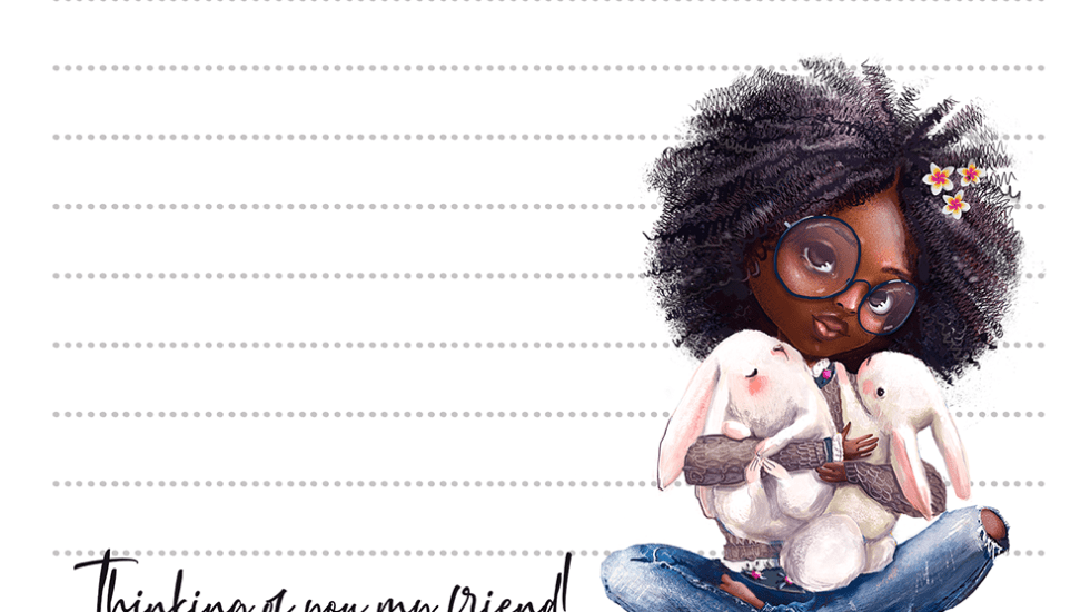 Bunny Hugs My Best Friends Stationery Free Printable