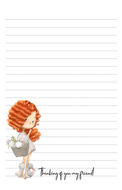 Redhead Country Girl Stationery