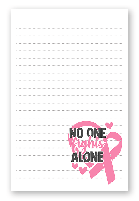No One Fights Cancer Alone Stationery